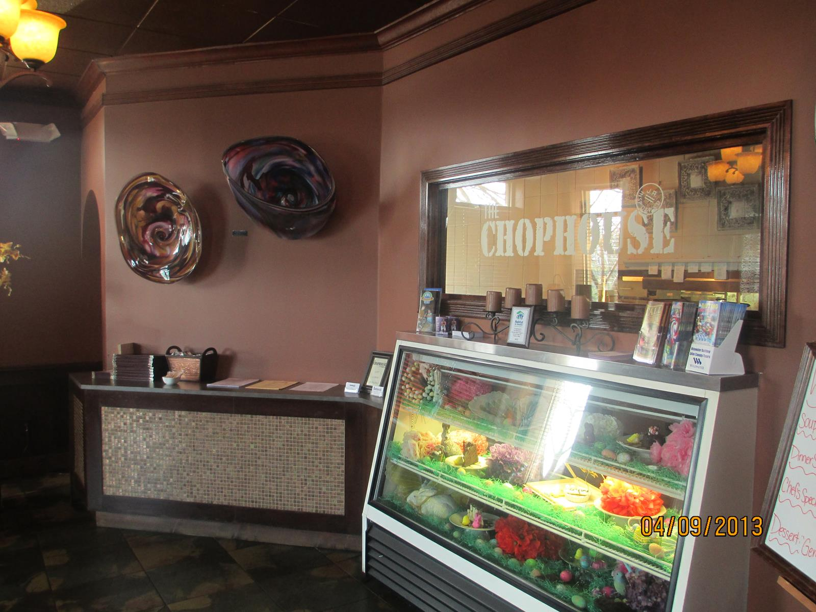 Inside The Chophouse Restaurant in Hiawassee